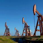 oil rigs in a field